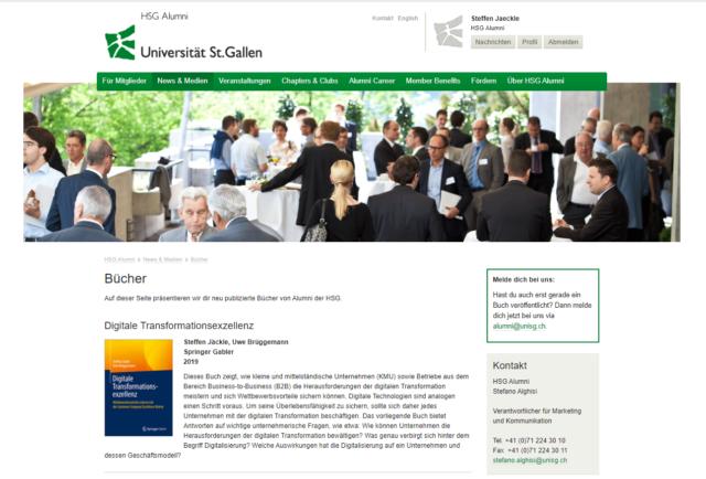 Universität St. Gallen HSG Alumni Digitale Transformationsexzellenz Steffen Jäckle 1.2