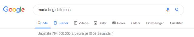 Google Suche Definition Marketing